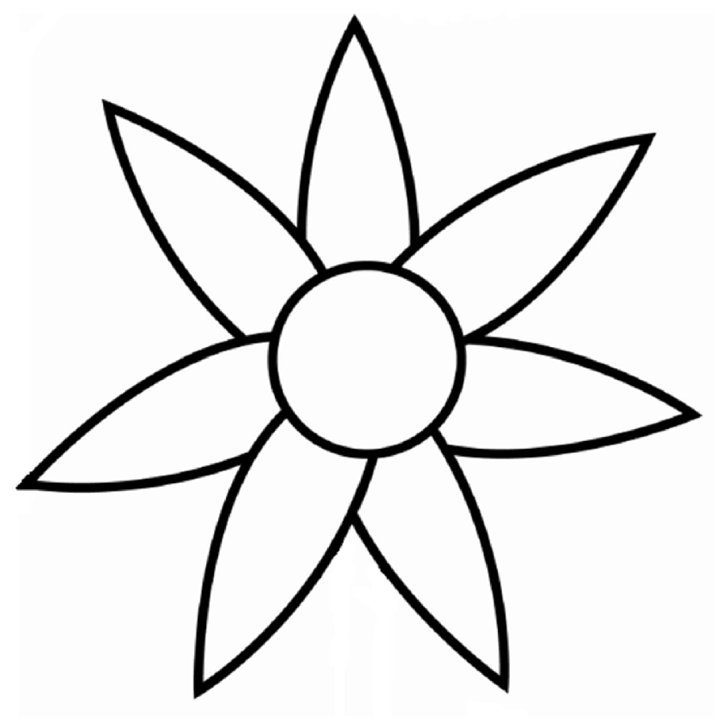coloring outline images of flowers clipart panda free clipart images flowers coloring of outline images