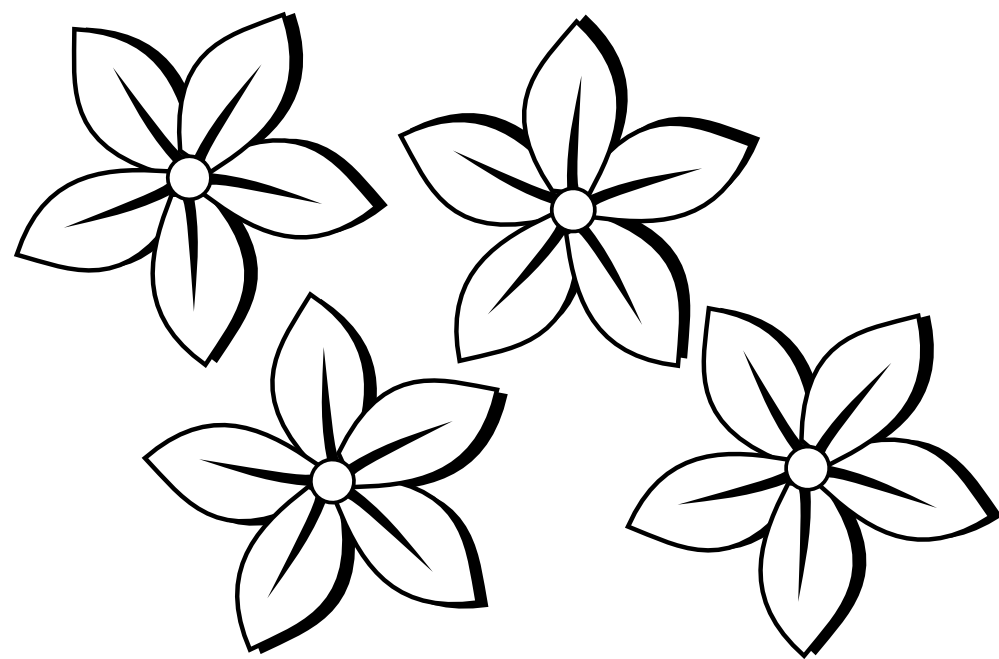 coloring outline images of flowers coloring clipart flower coloring flower transparent free flowers of coloring images outline
