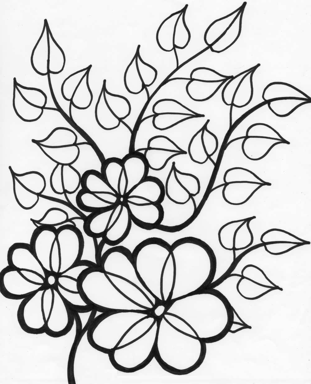 coloring outline images of flowers daisy flower outline free download on clipartmag images of coloring outline flowers