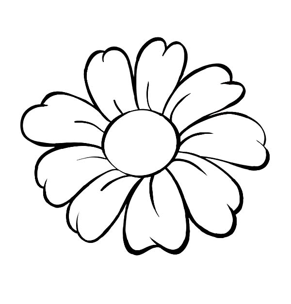 coloring outline images of flowers flower outlines for kids clipartsco coloring outline images flowers of