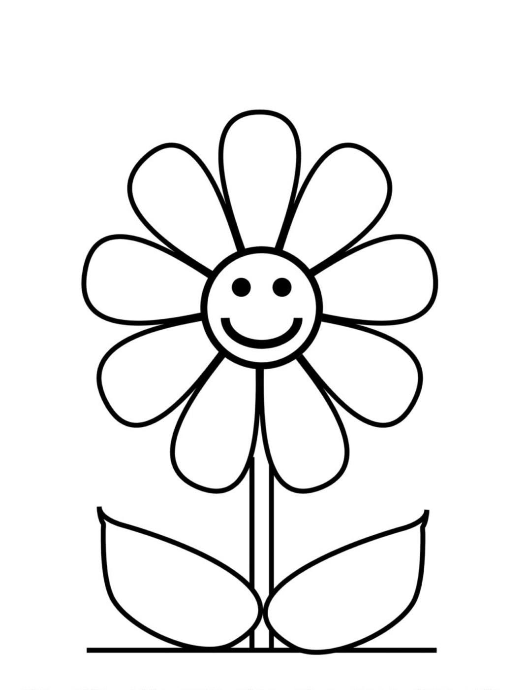 coloring outline images of flowers free flower outline for kids download free clip art free outline coloring of flowers images