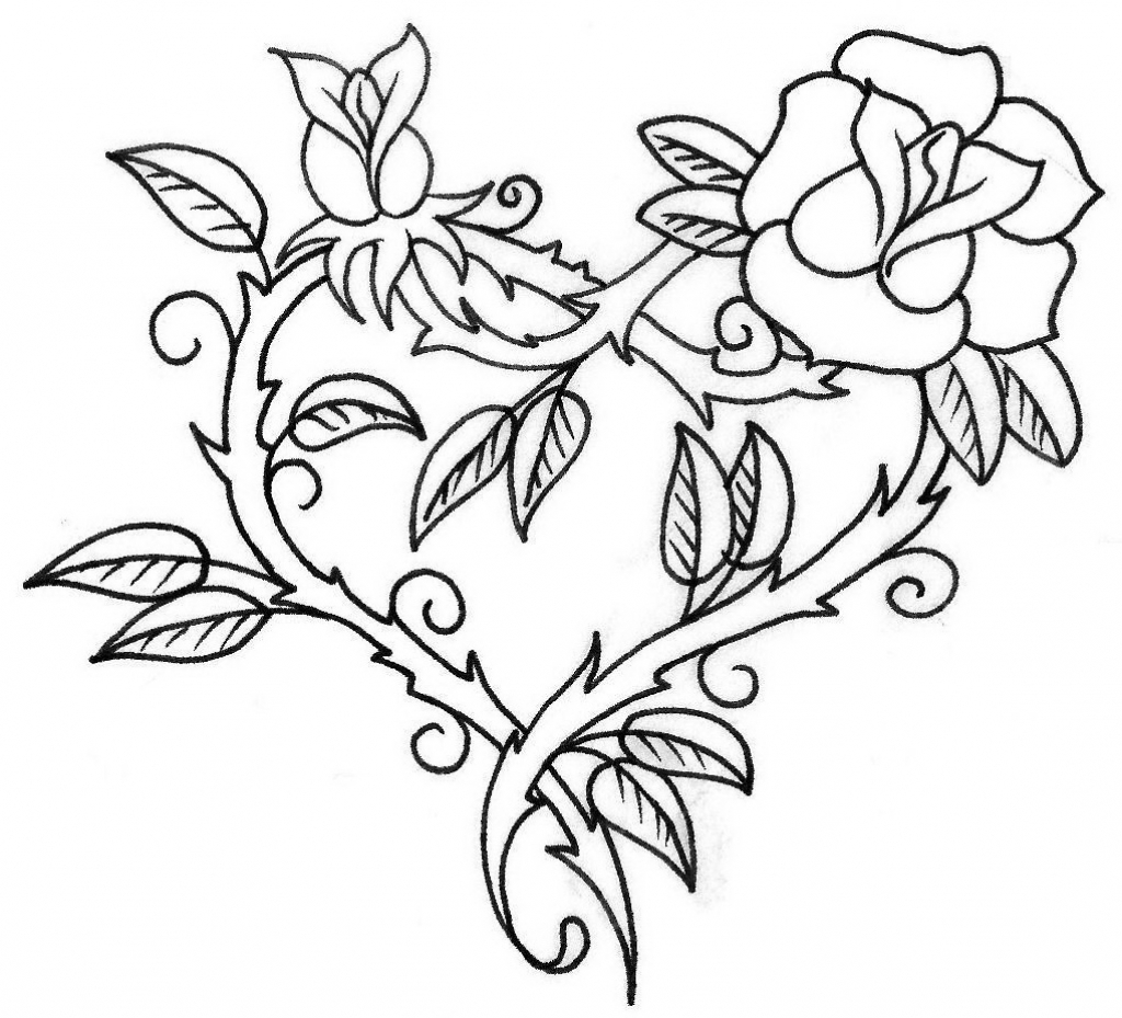 coloring outline images of flowers outline drawing of flowers at getdrawings free download of coloring images outline flowers