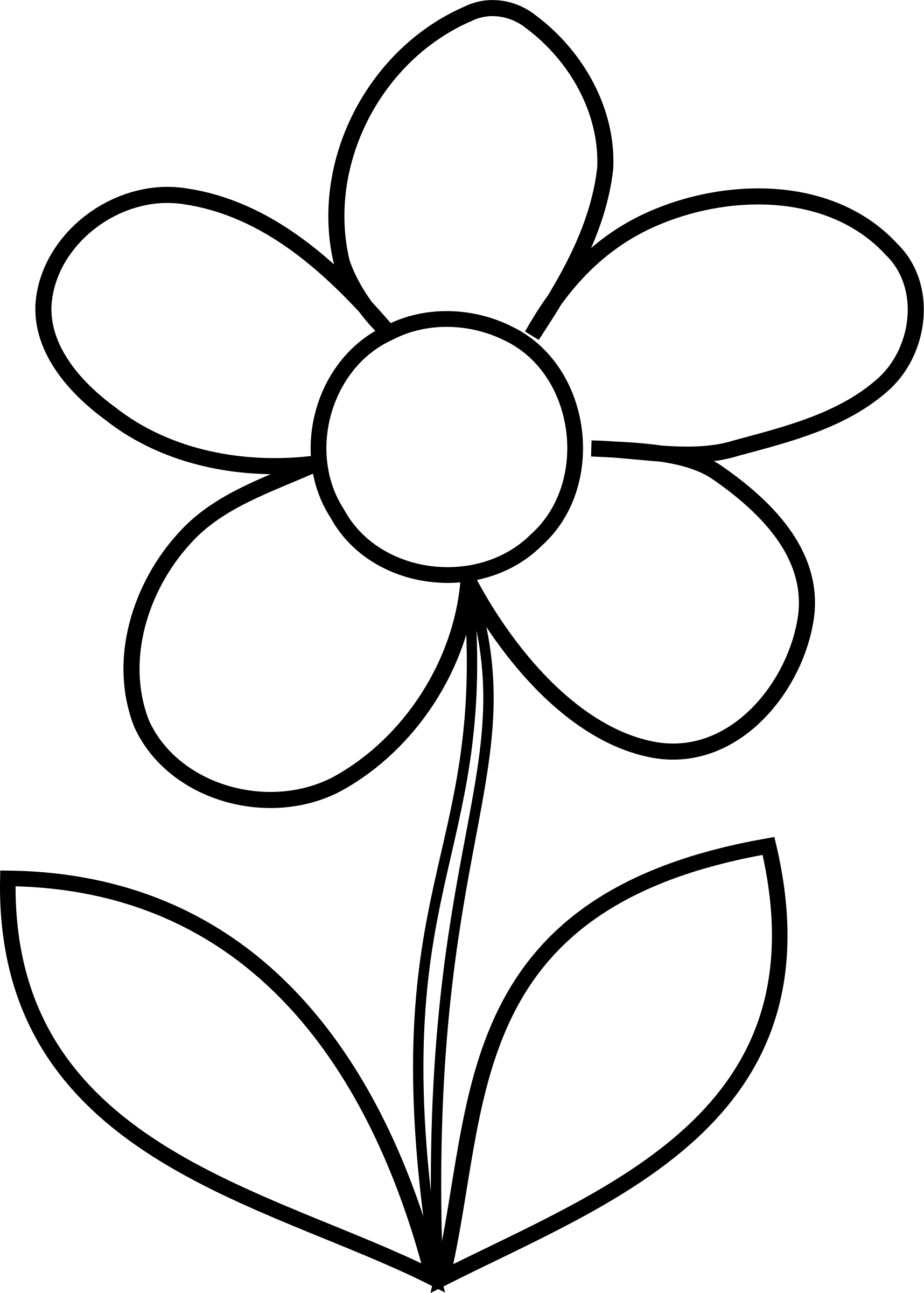 coloring outline images of flowers simple flower bw by malenki simple flower from hakanl coloring of flowers images outline