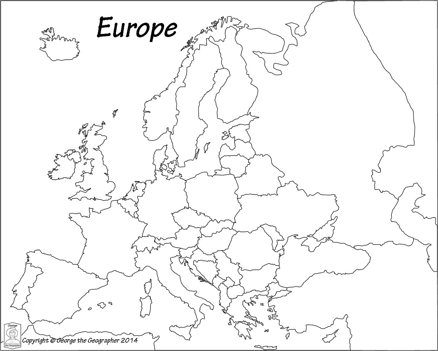 coloring outline map of europe with country names europe unlabeled map telene me and of black white europe map names country europe coloring with of outline