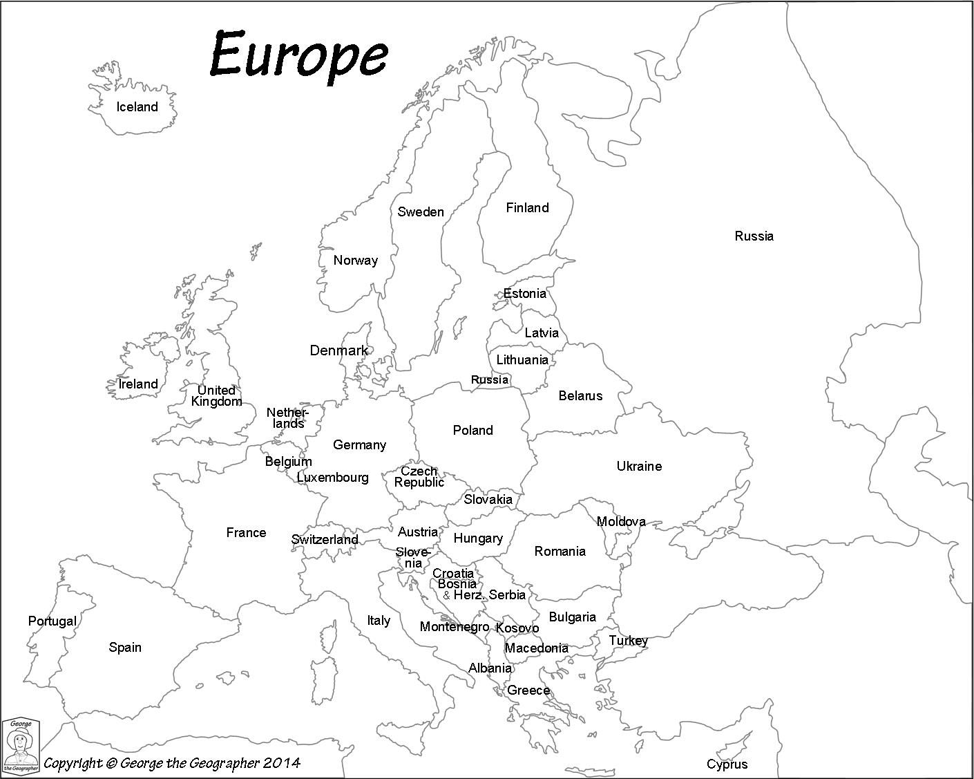 coloring outline map of europe with country names pin by val kruse on 2015 2016 geography map europe map country with names europe map of outline coloring