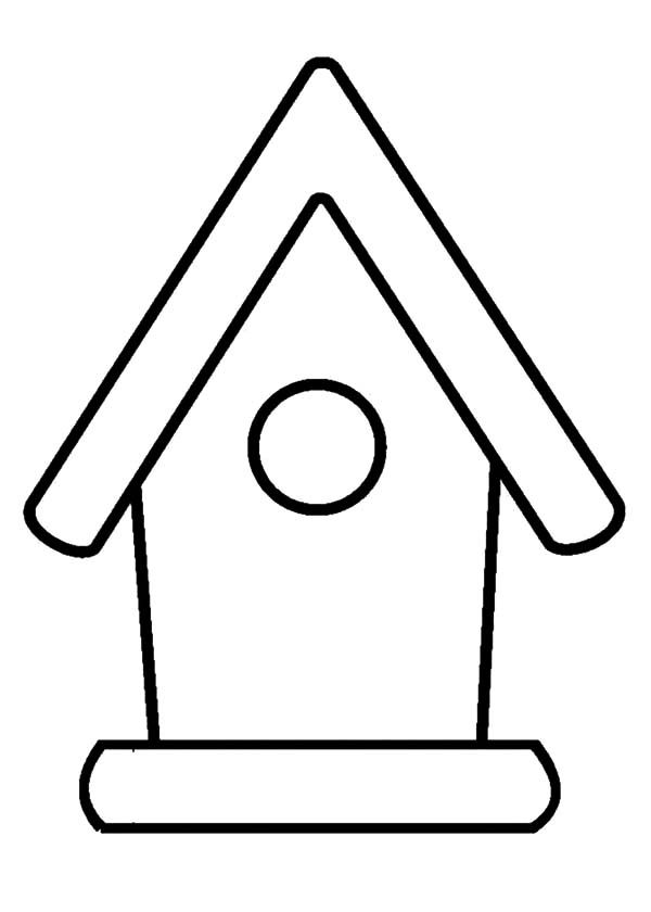 coloring outline of a house birdhouse clipart outline birdhouse outline transparent house of outline a coloring