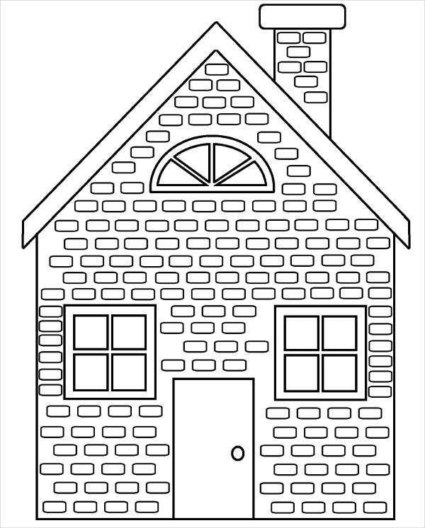 coloring outline of a house free printable house coloring page house colouring pages a coloring of outline house