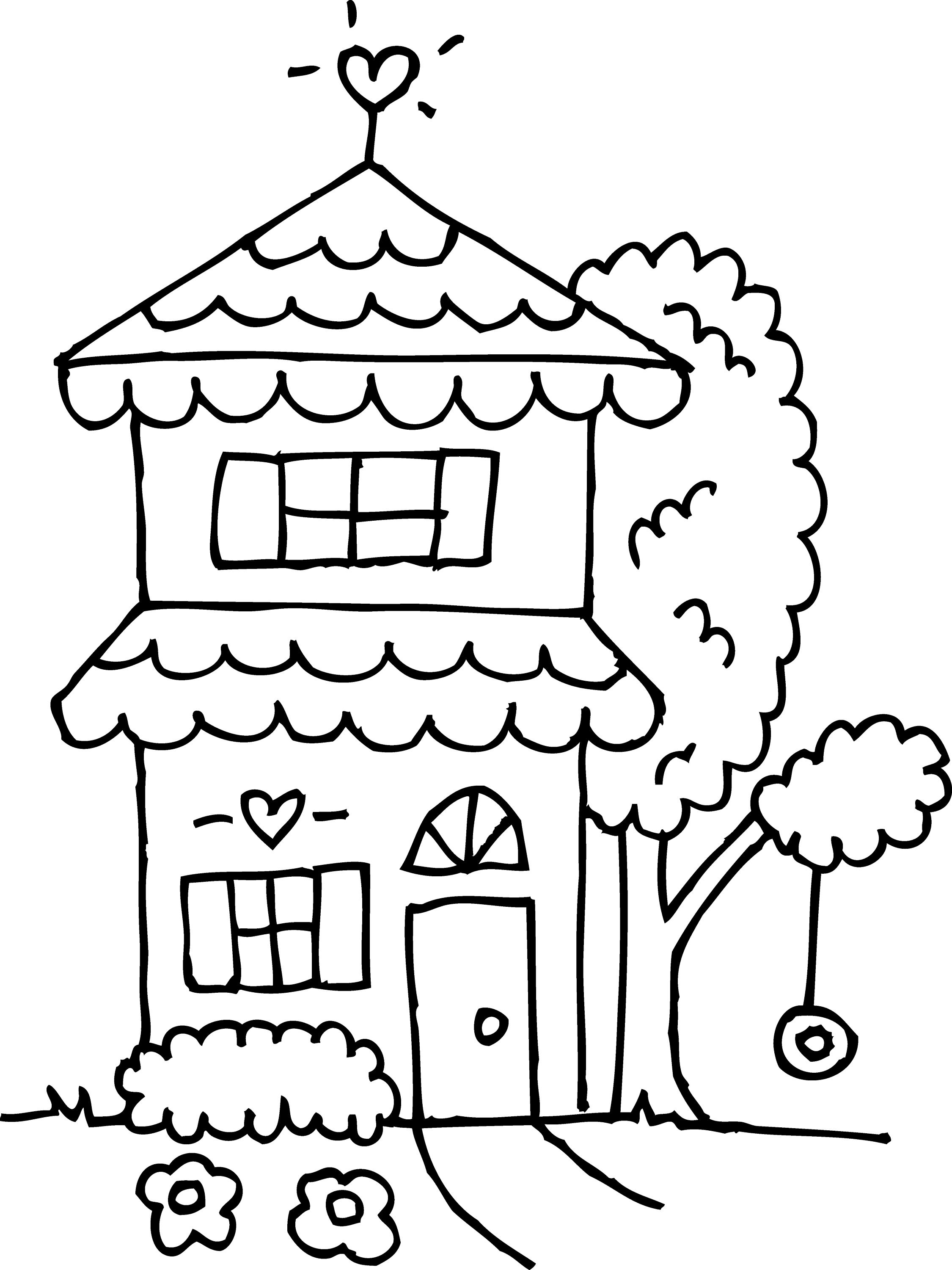 coloring outline of a house house drawing outline at paintingvalleycom explore of house outline a coloring
