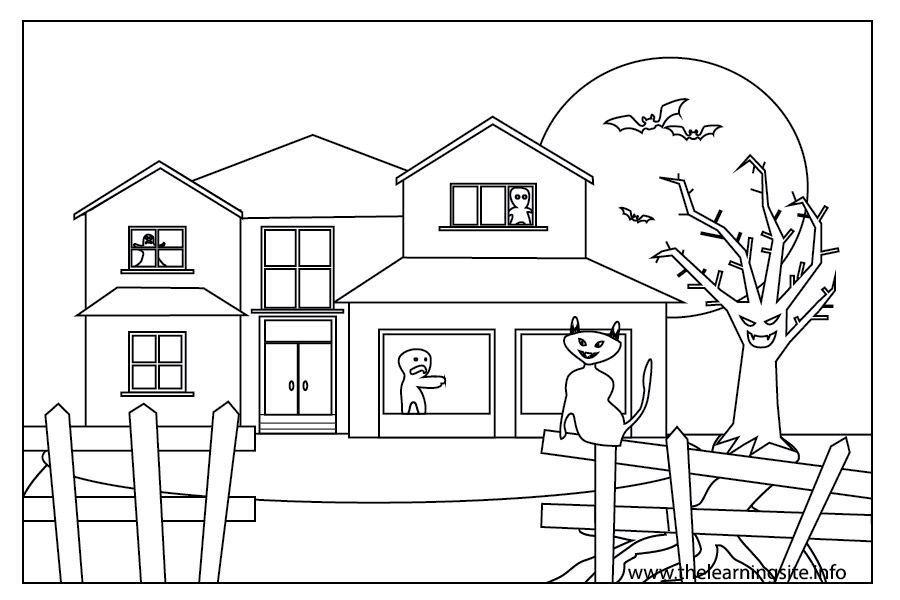 coloring outline of a house house flashcard the learning site outline of coloring house a