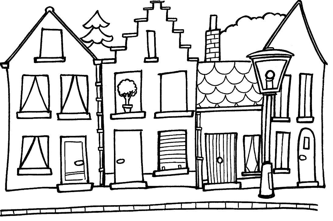 coloring outline of a house house outline clip art at clkercom vector clip art a of outline house coloring