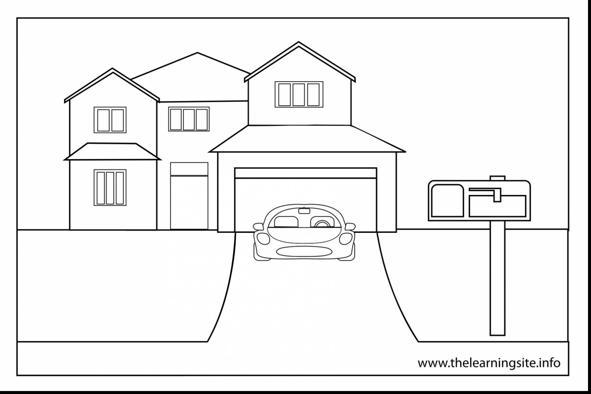 coloring outline of a house house outline drawing at getdrawings free download of coloring house a outline