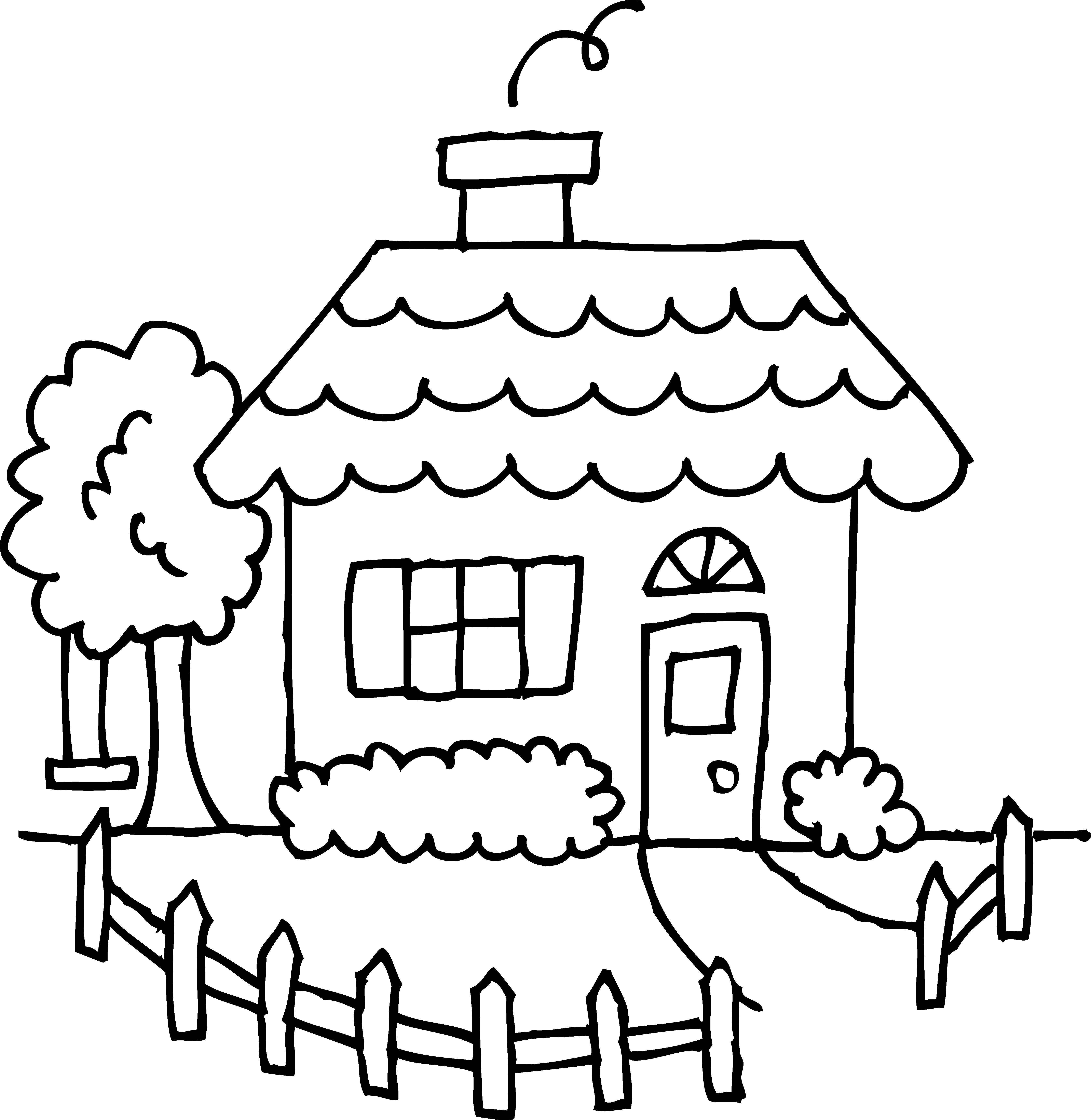 coloring outline of a house little house line art free clip art a of house coloring outline