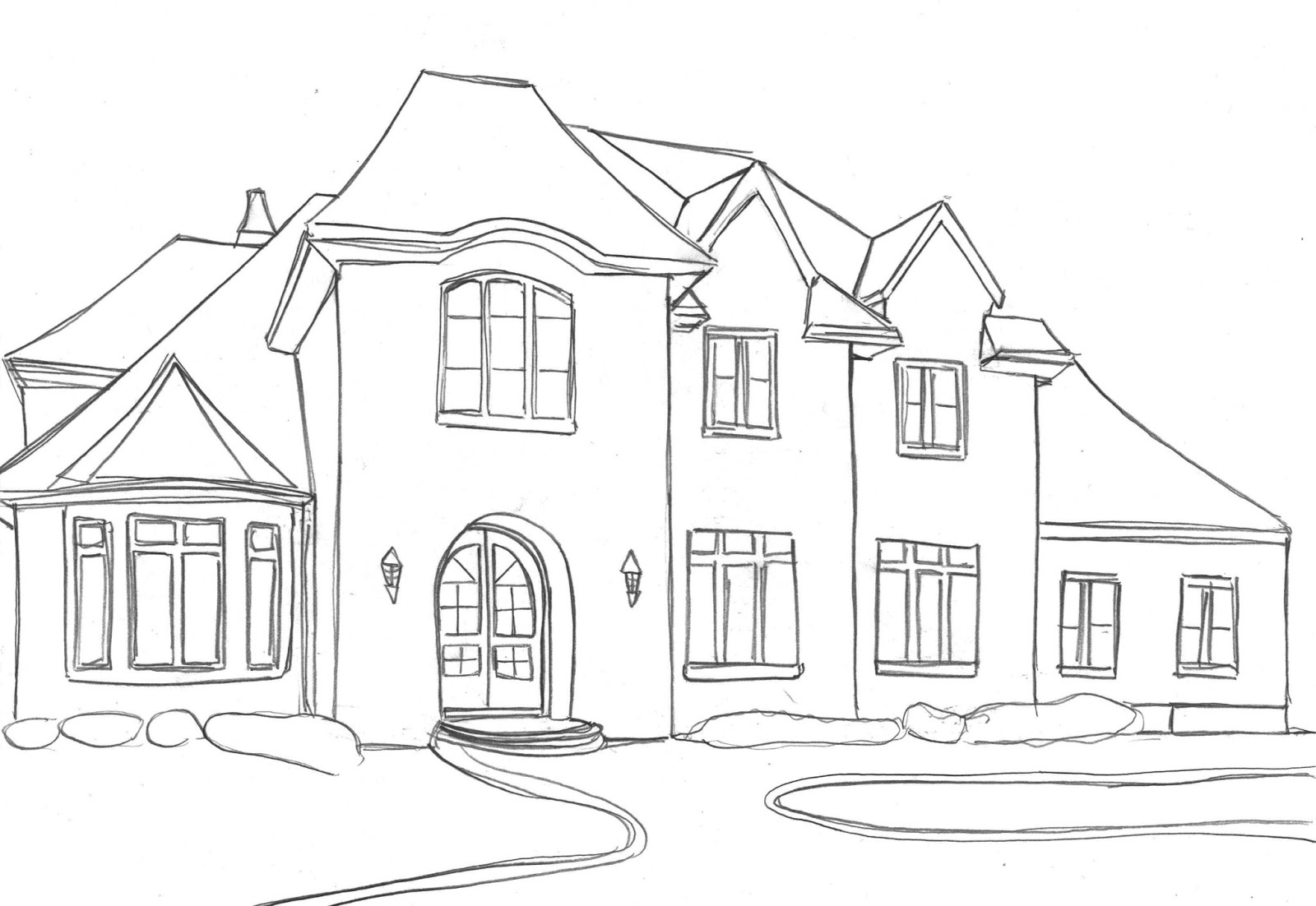 coloring outline of a house mobile home clip art outline best and house sketch house a coloring outline of