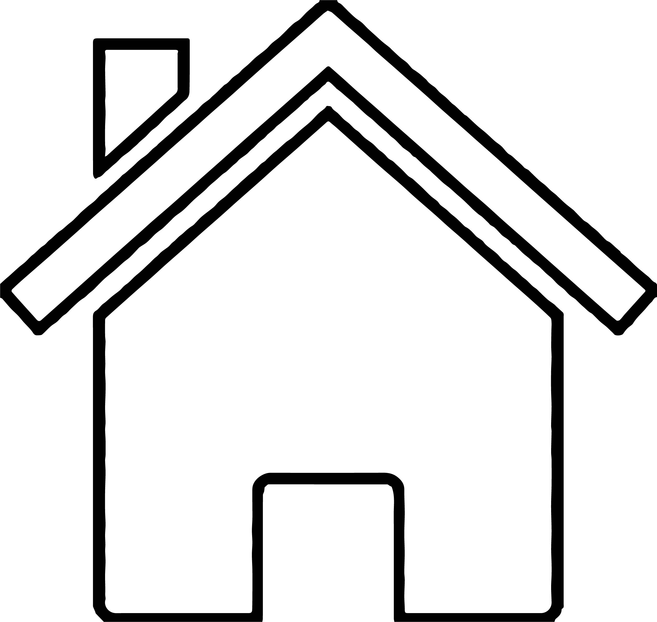 coloring outline of a house mobile home clip art outline best and house sketch of outline a coloring house