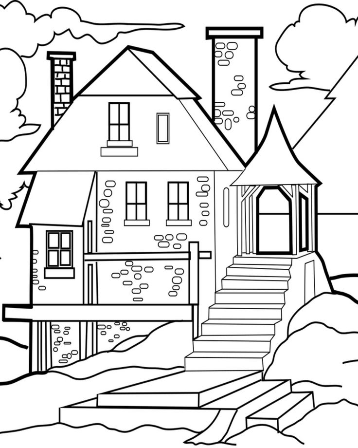 coloring outline of a house outline of a house clipartsco outline a coloring house of