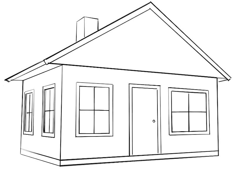 coloring outline of a house school house line art free clip art outline of a house coloring
