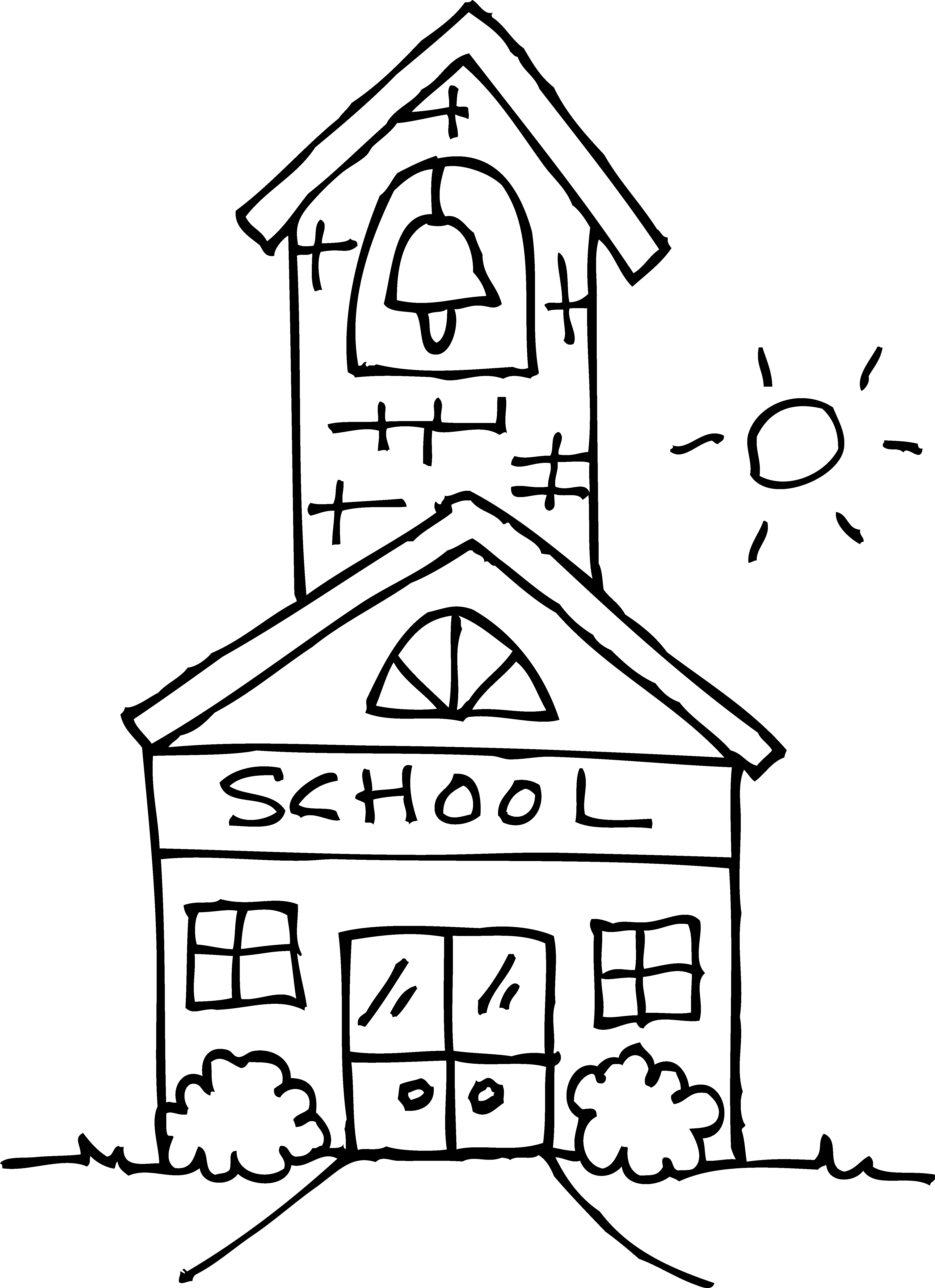 coloring outline of a house school house outline clipartsco a of outline house coloring