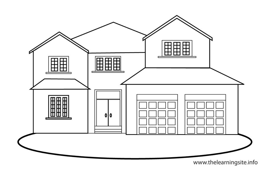 coloring outline of a house school house outline clipartsco coloring of a house outline