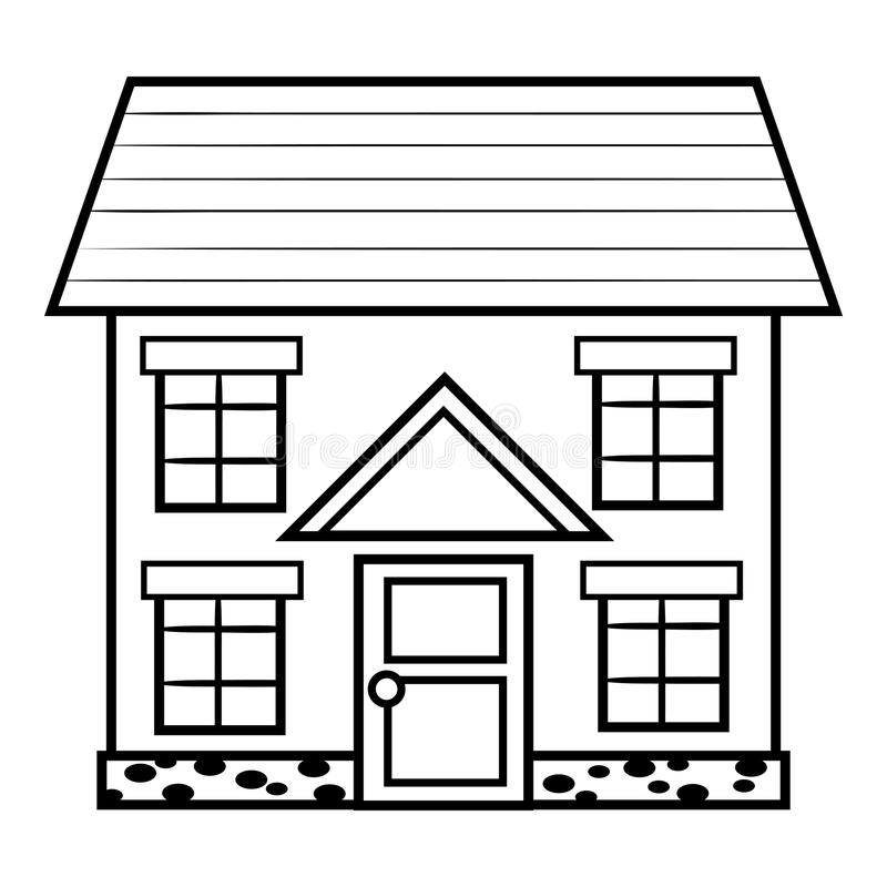 coloring outline of a house school house outline clipartsco of house a outline coloring