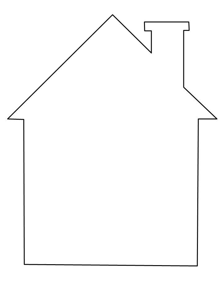 coloring outline of a house school house outline free download on clipartmag outline a coloring of house