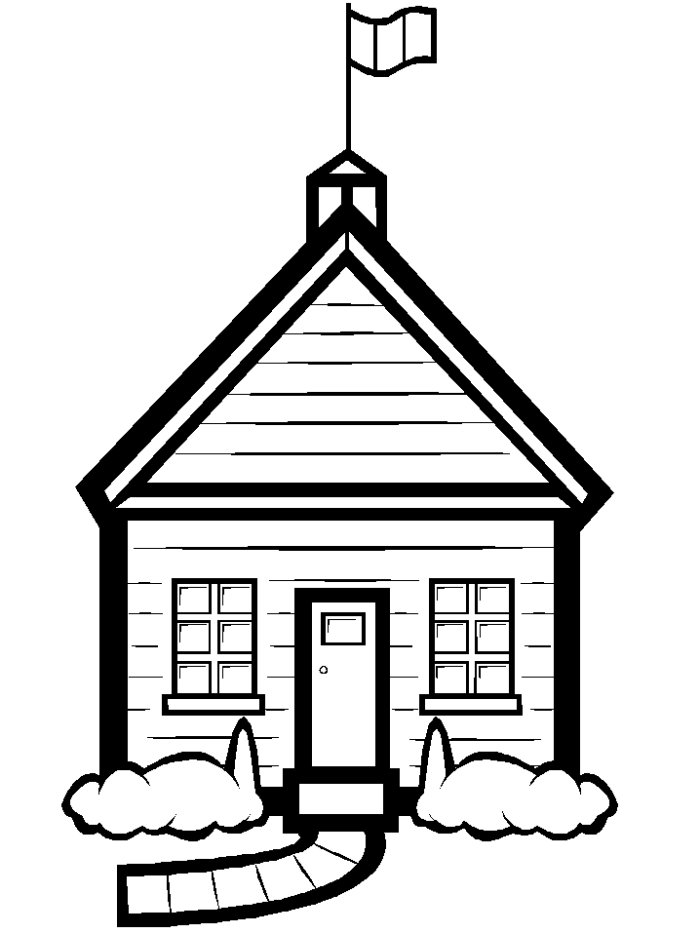 coloring outline of a house two story house coloring page free clip art house coloring of a outline