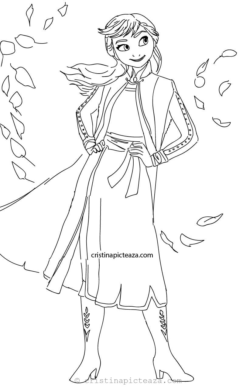 coloring page 2 anna from frozen 2 coloring pages cristina picteazacom 2 coloring page