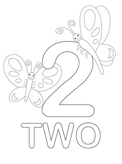 coloring page 2 free printable number 2 template coloring page coloring 2 page