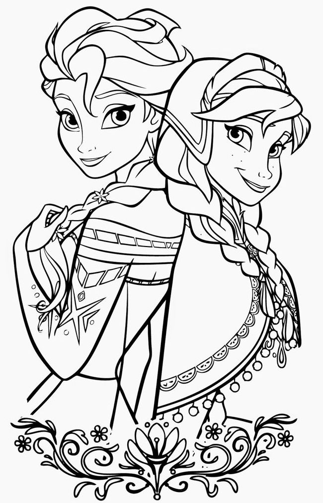 coloring page 2 frozen 2 coloring pages at getcoloringscom free 2 page coloring