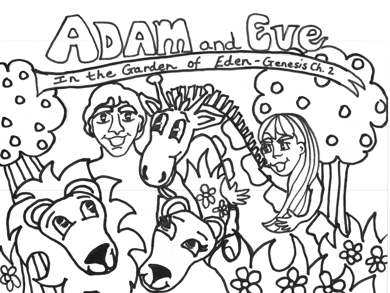 coloring page adam and eve adam and eve coloring lesson kids coloring page and adam coloring page eve