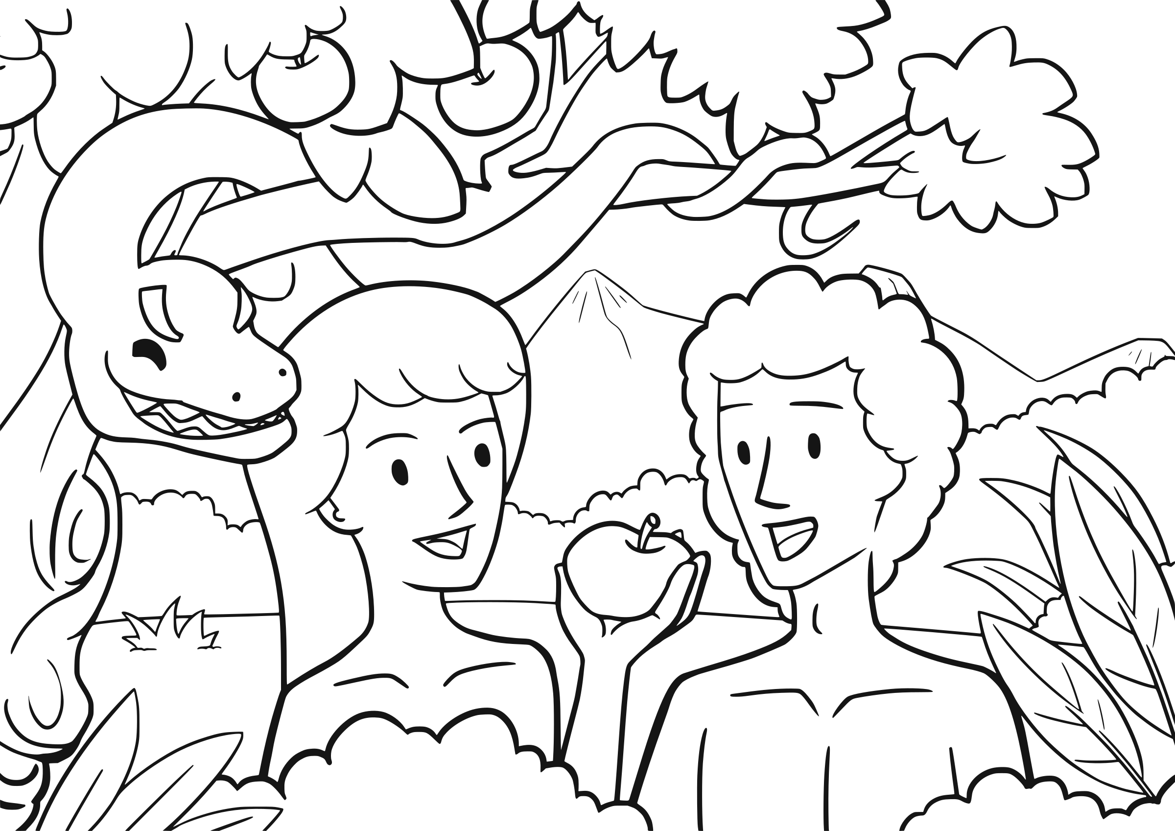 coloring page adam and eve adam and eve coloring lesson kids coloring page page and coloring eve adam