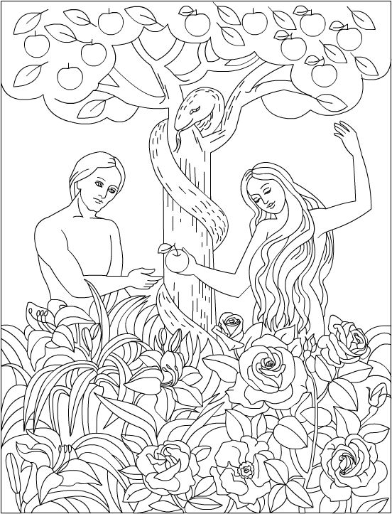 coloring page adam and eve free printable adam and eve coloring pages for kids and coloring eve page adam