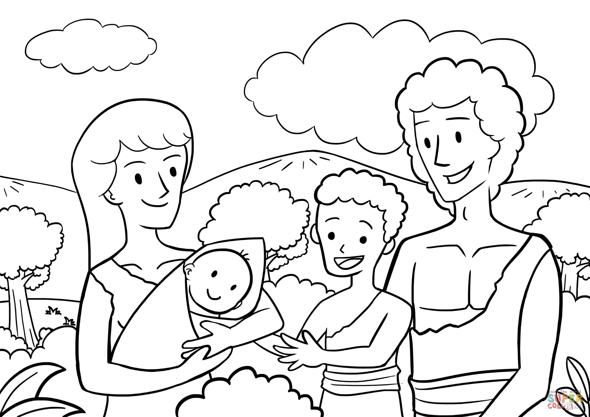 coloring page adam and eve picture of adam and eve in the garden of eden to color page adam and coloring eve