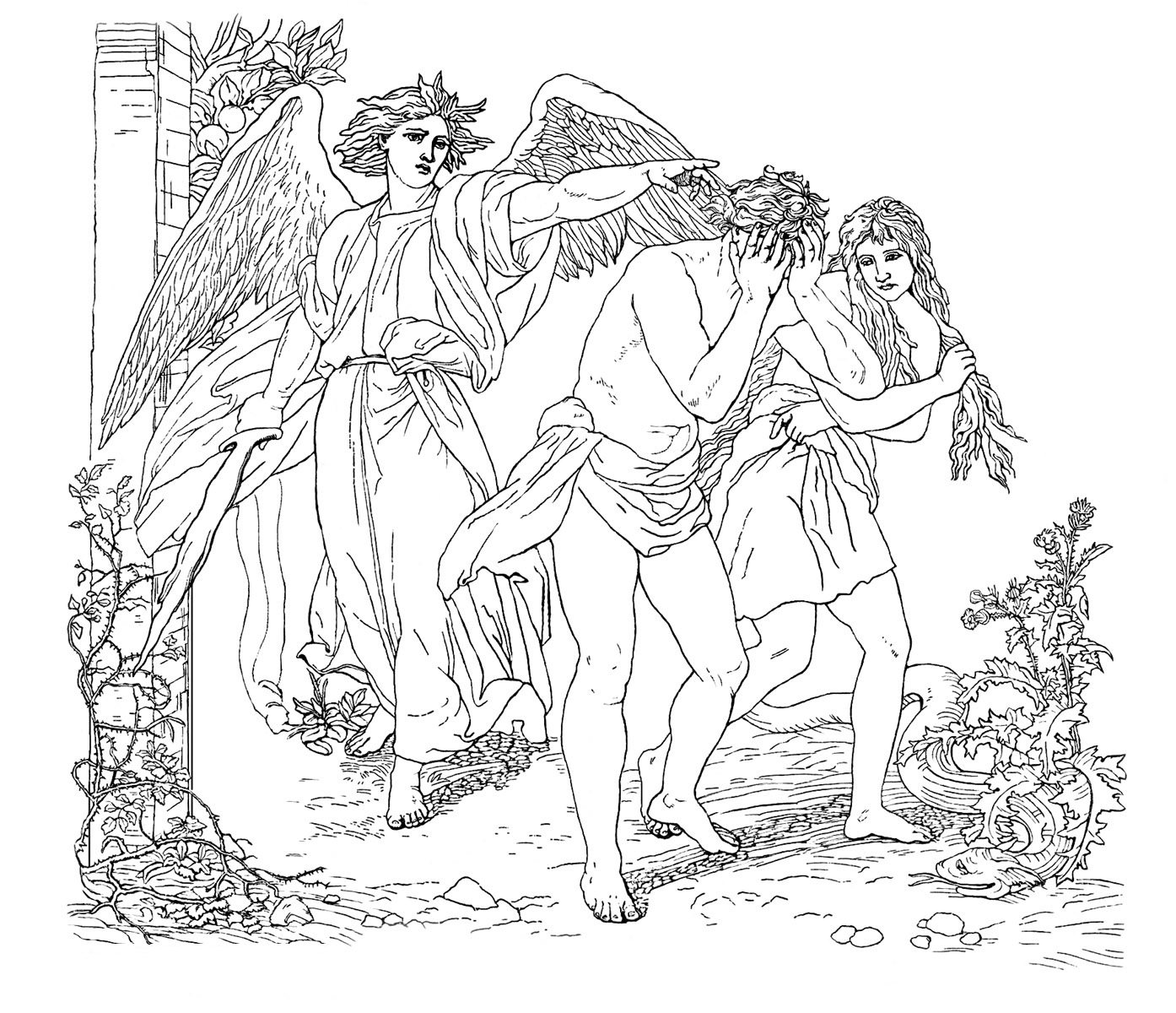 coloring page adam and eve printable adam and eve coloring pages for kids cool2bkids adam page and coloring eve