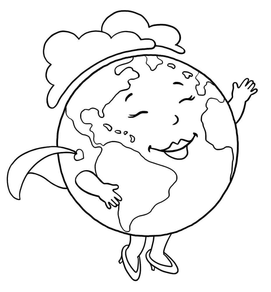 coloring page earth 35 free printable earth day coloring pages coloring earth page