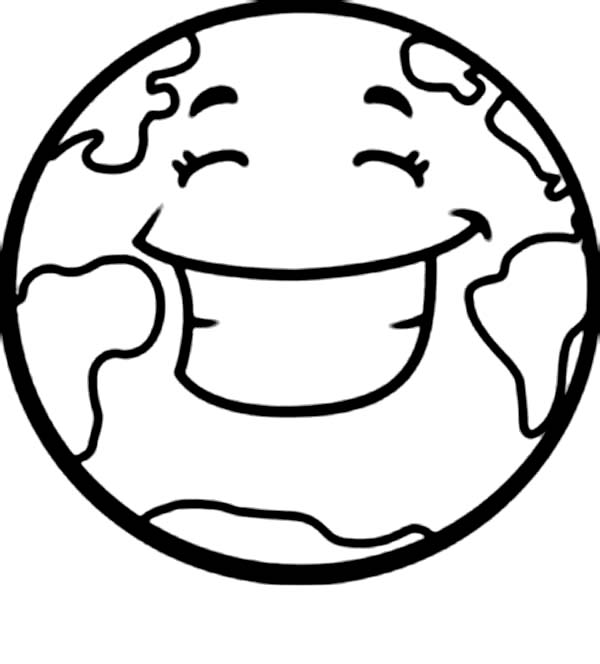 coloring page earth a happy earth on earth day coloring page download earth coloring page