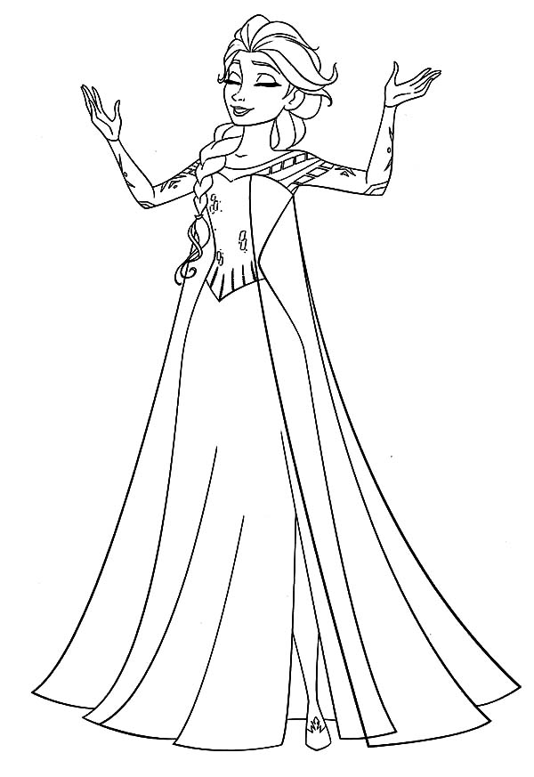 coloring page elsa 4 beautiful elsa coloring pages to print instant knowledge elsa coloring page