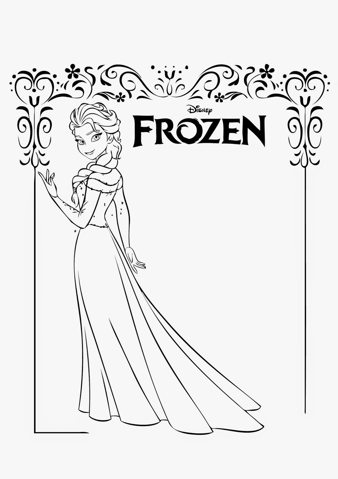 coloring page elsa coloring page elsa elsa coloring page