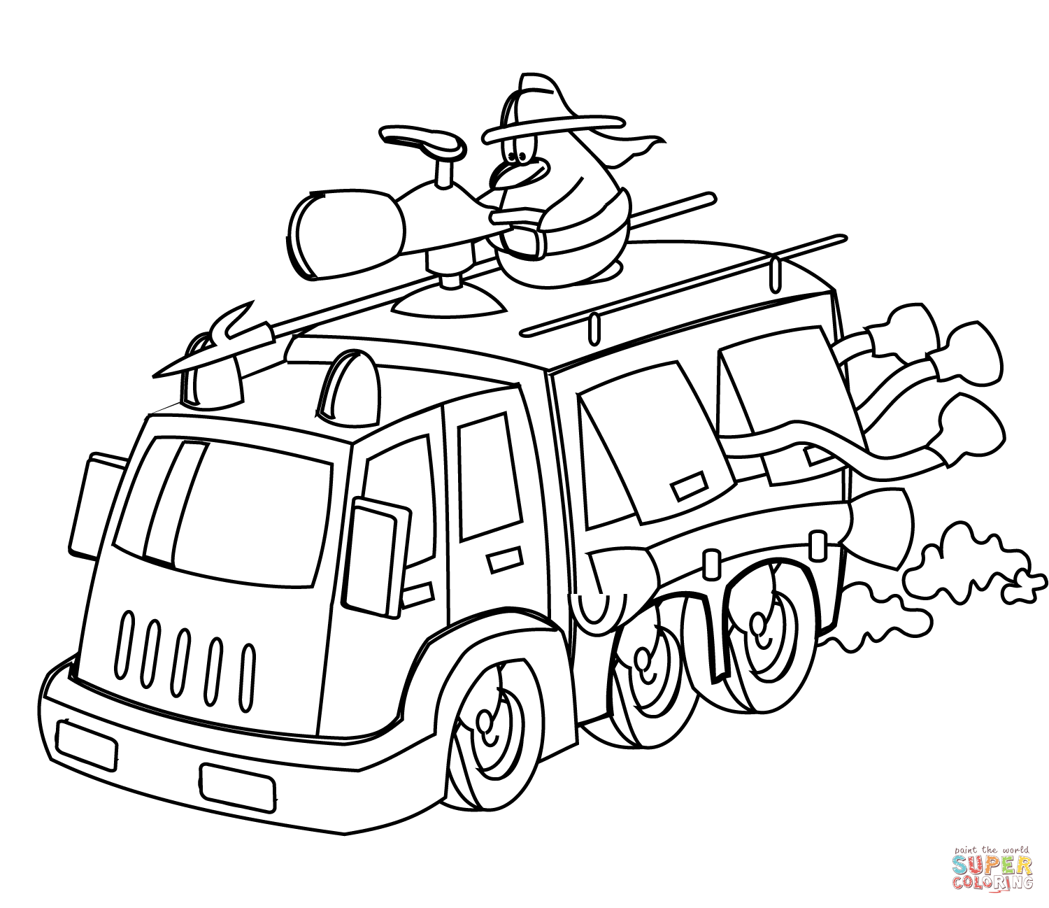 coloring page fire truck fire truck coloring pages coloring pages to download and page truck coloring fire 1 1