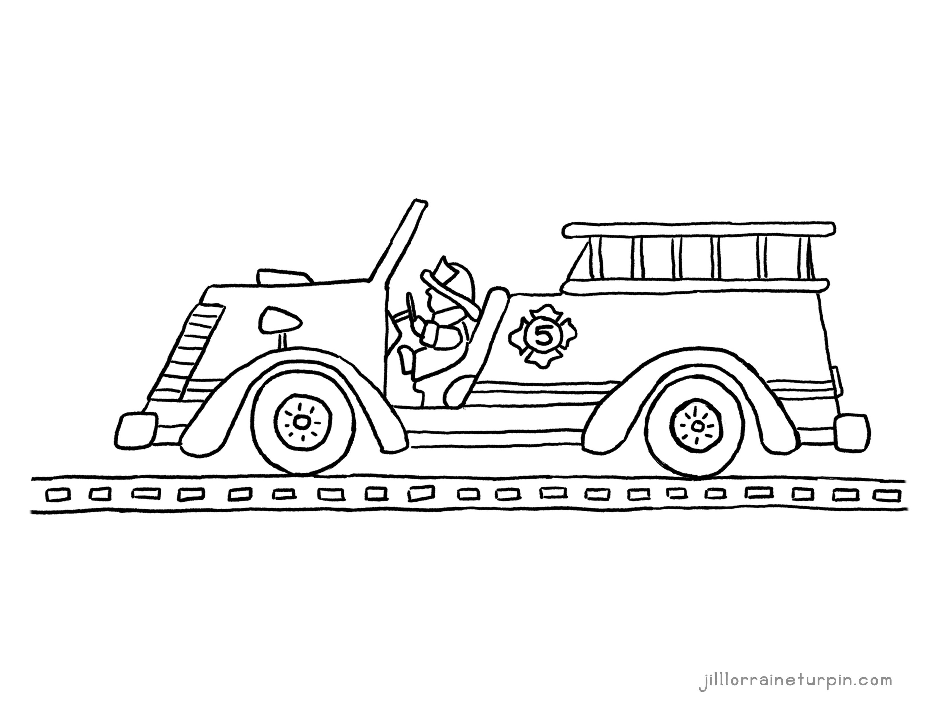 coloring page fire truck fire truck coloring pages pdf at getdrawings free download page fire coloring truck