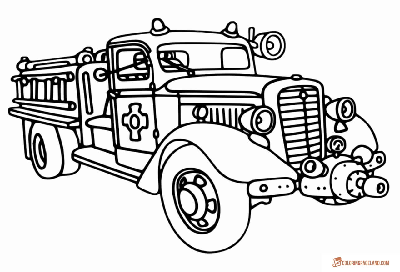 coloring page fire truck fire truck printable coloring pages printall fire coloring truck page