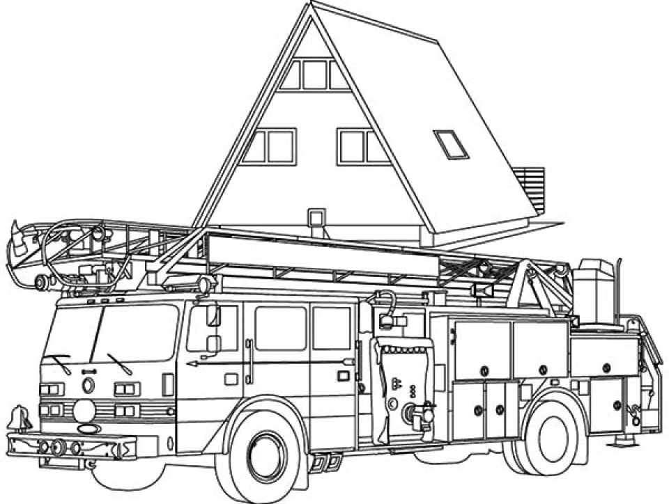 coloring page fire truck print download educational fire truck coloring pages coloring truck page fire