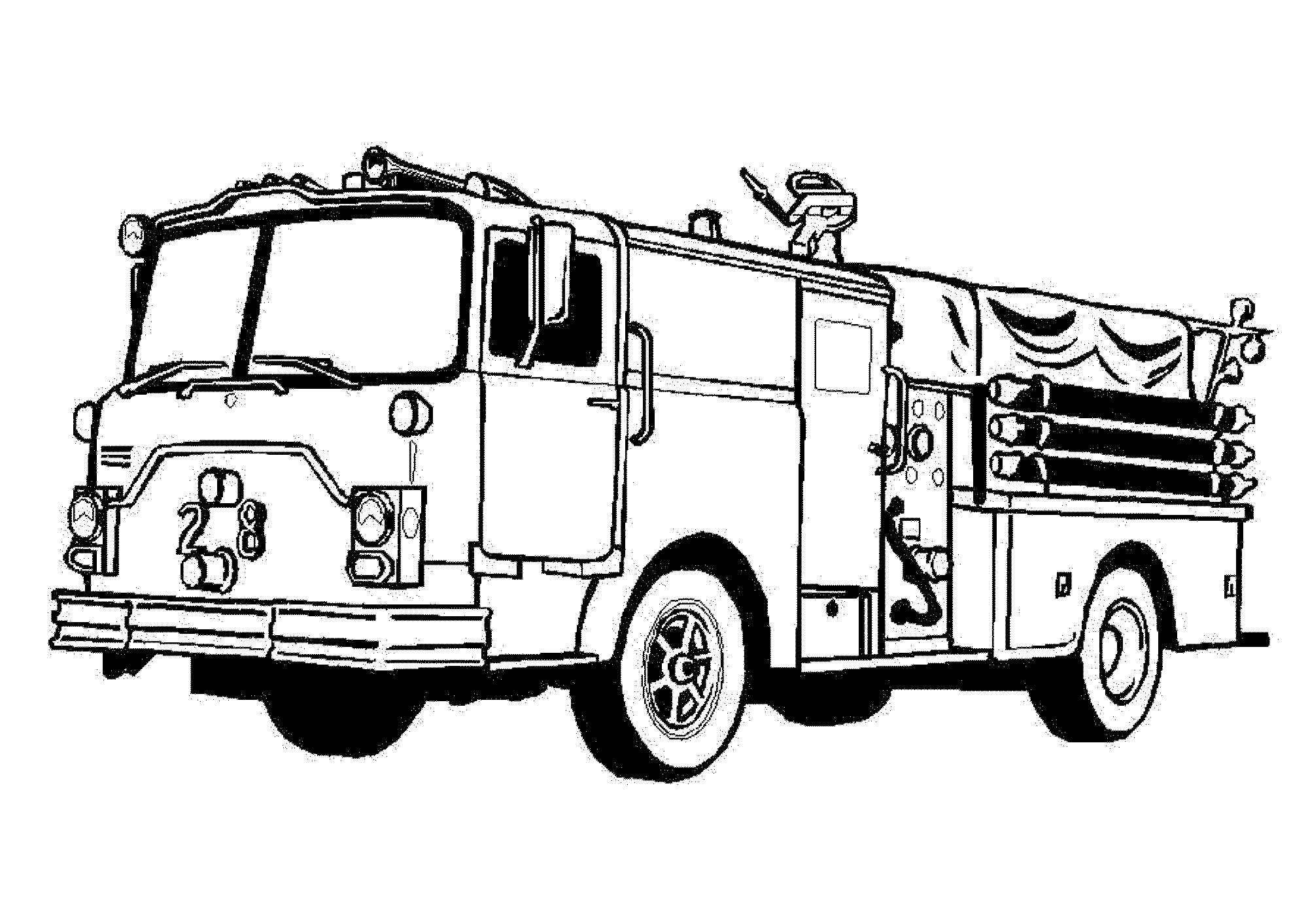 coloring page fire truck print download educational fire truck coloring pages fire coloring truck page