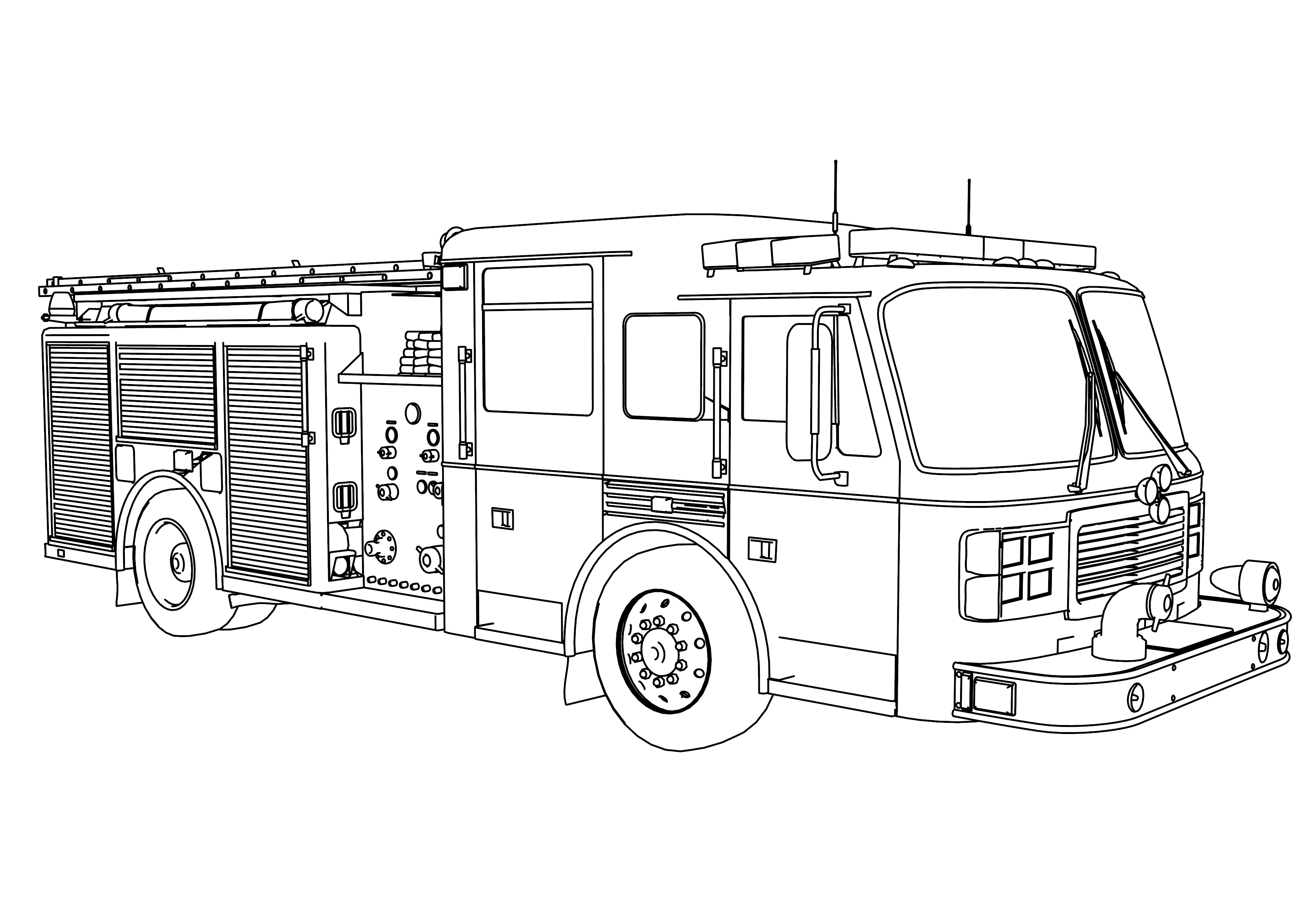 coloring page fire truck print download educational fire truck coloring pages fire page truck coloring