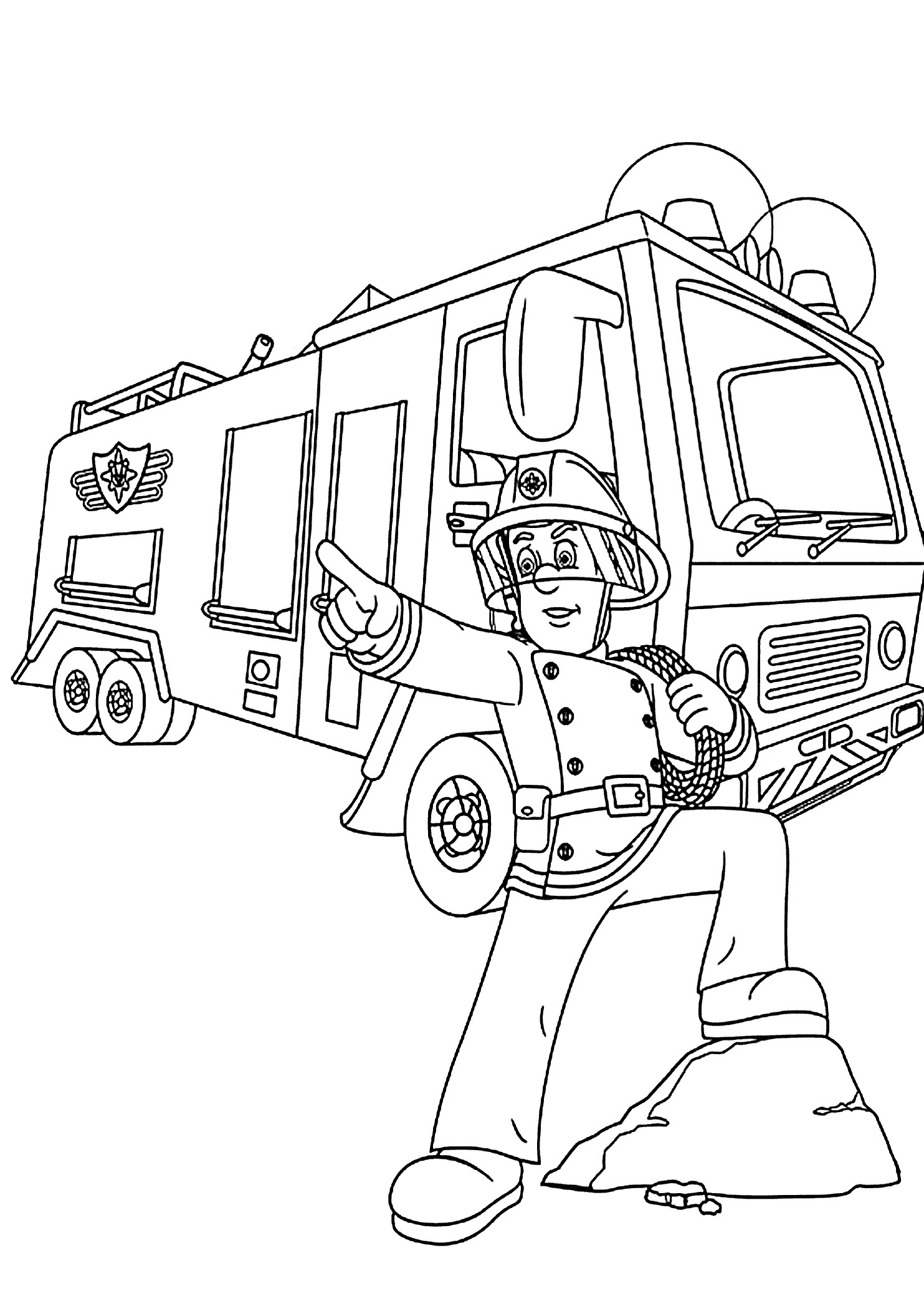 coloring page fire truck simple fire truck coloring pages at getcoloringscom fire page coloring truck