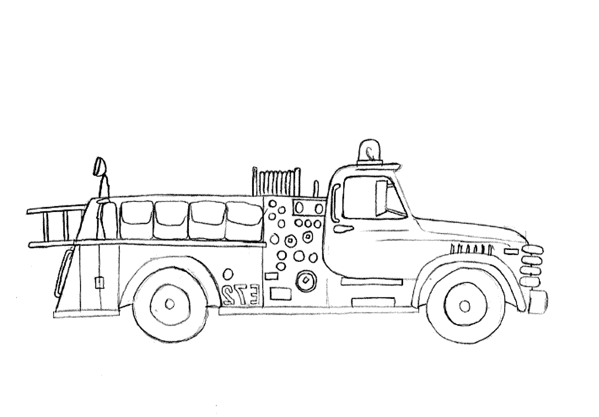 coloring page fire truck truck outline drawing at getdrawings free download fire truck coloring page