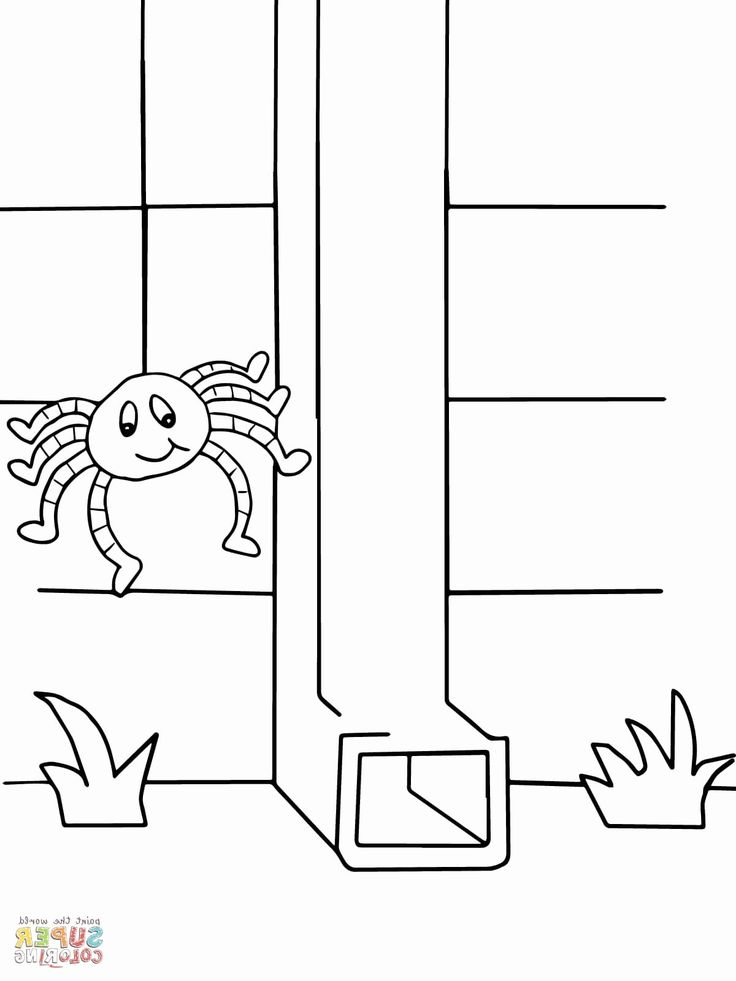 coloring page itsy bitsy spider coloring page itsy bitsy spider spider bitsy coloring itsy page