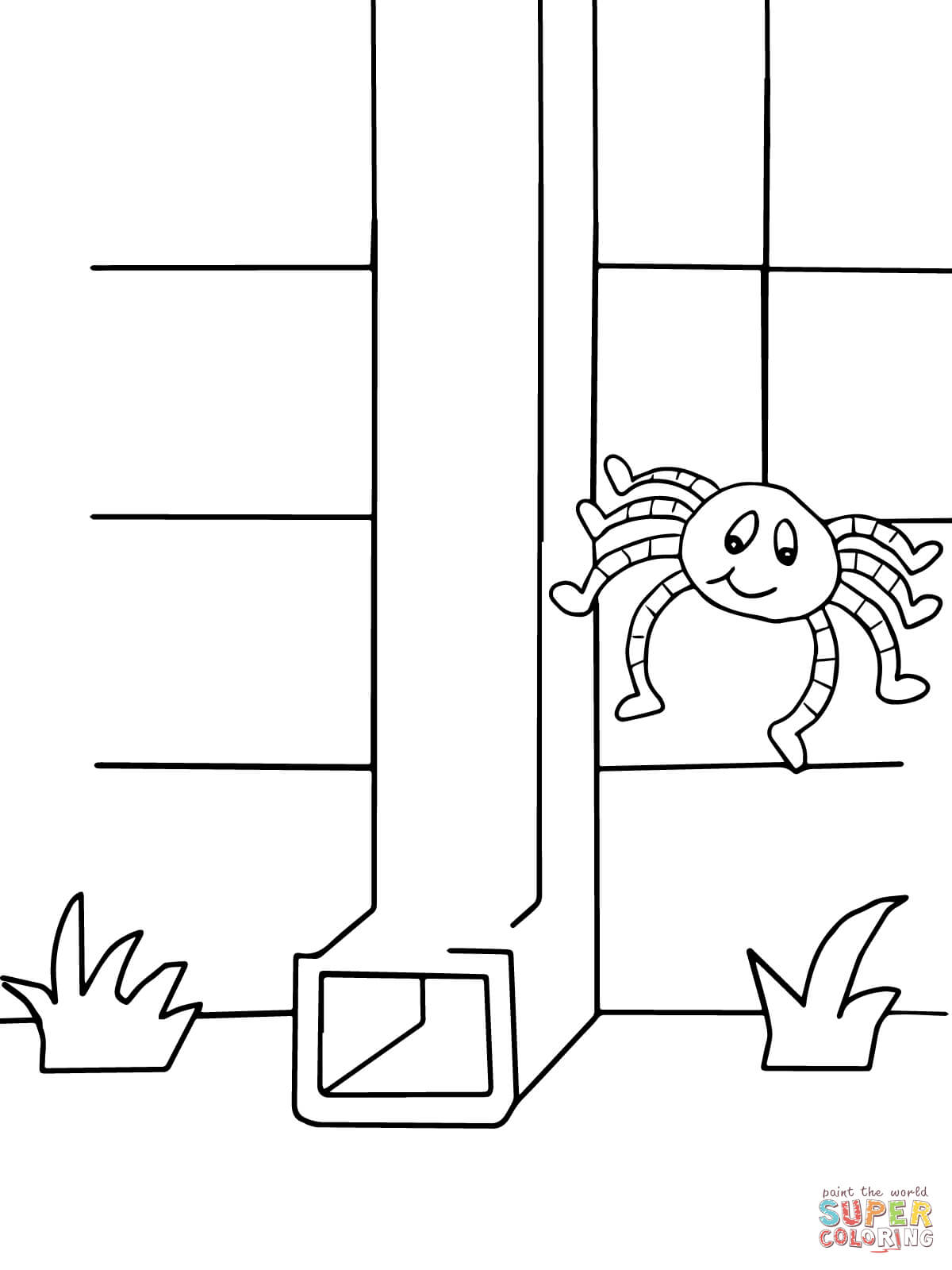 coloring page itsy bitsy spider halloween reading artwork itsy bitsy spider coloring coloring spider itsy page bitsy