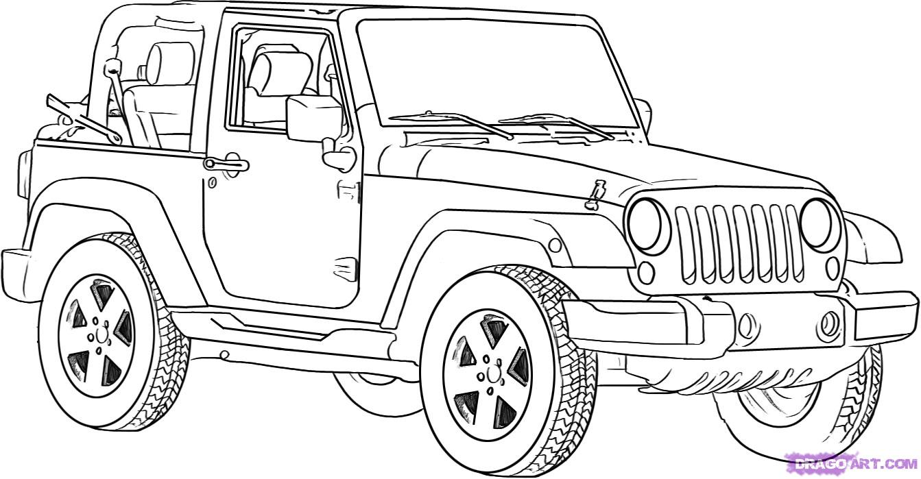 coloring page jeep jeep coloring pages for print realistic coloring pages coloring jeep page