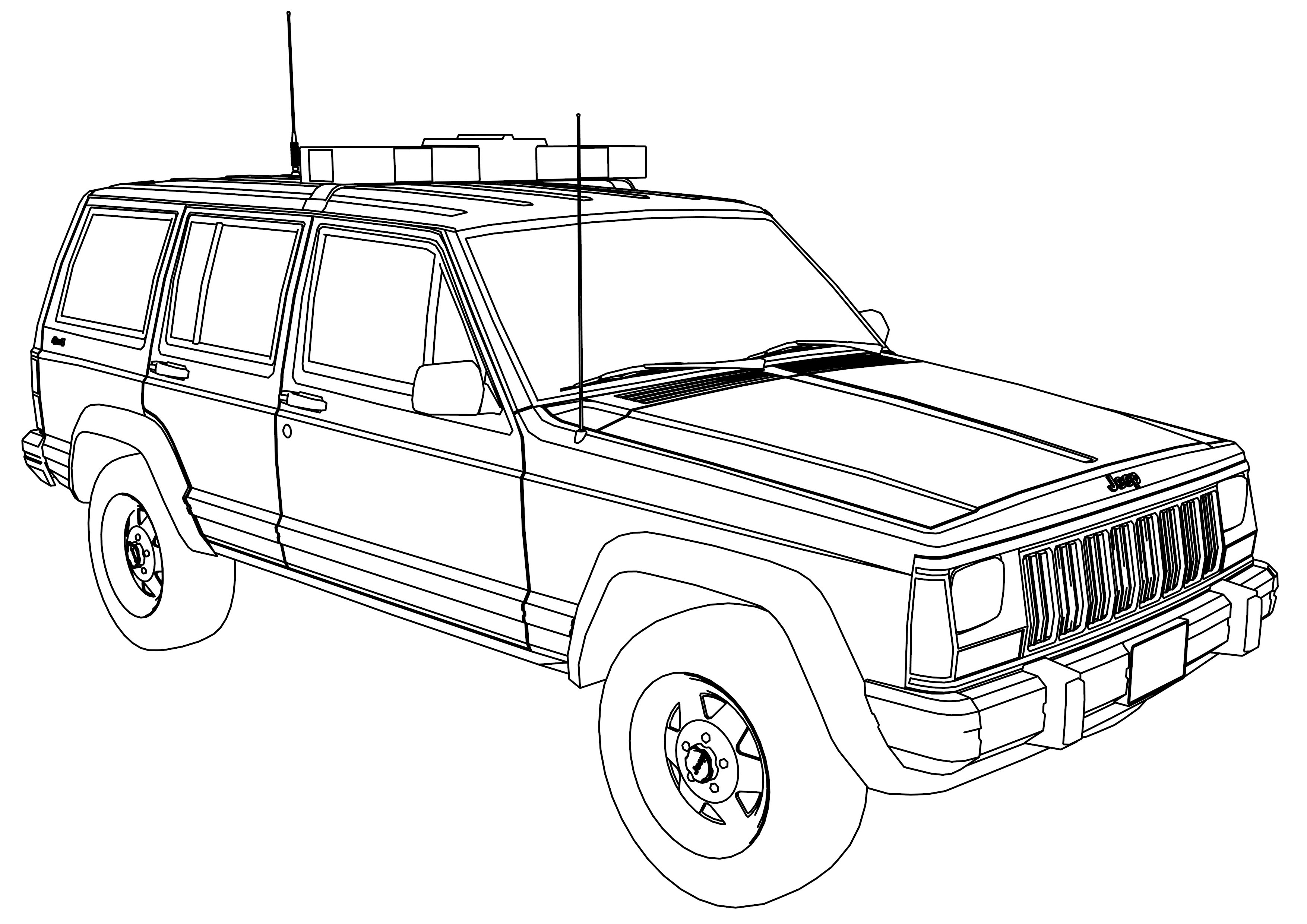 coloring page jeep lifted jeep wrangler coloring page pages sketch coloring page coloring page jeep