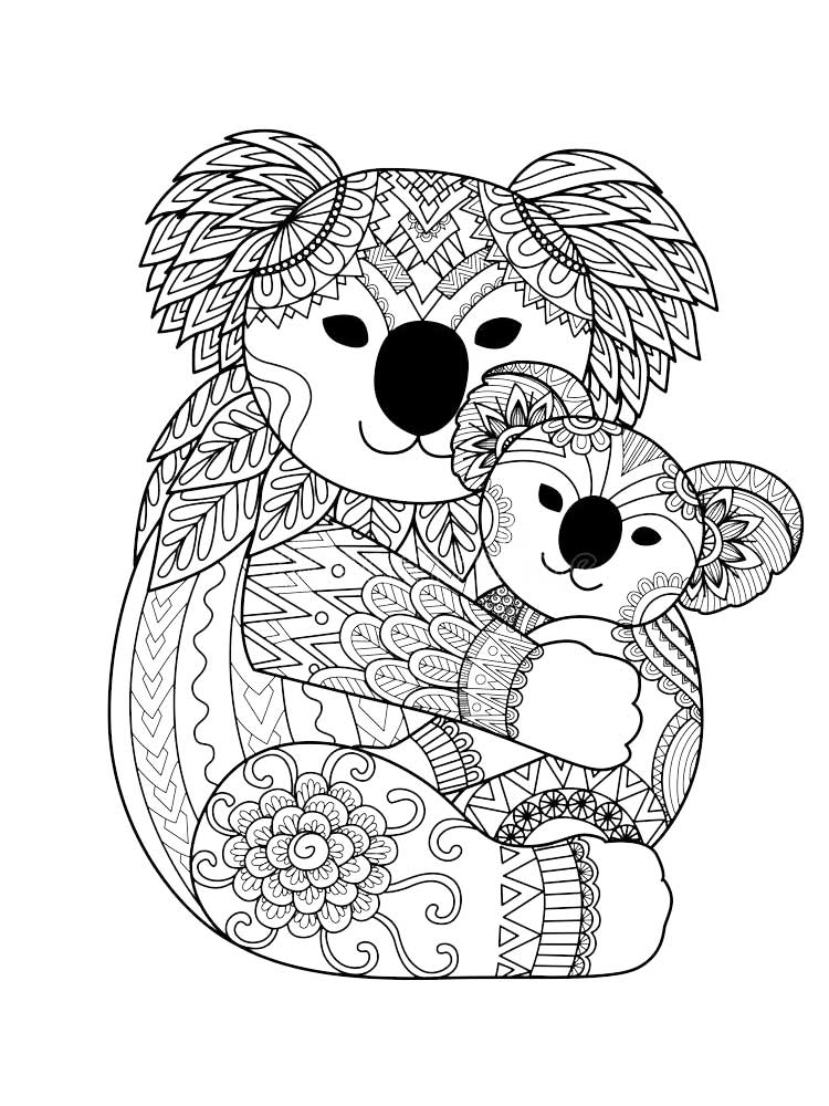 coloring page koala koala cartoon drawing at getdrawings free download coloring page koala